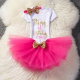 Sale Baby G*rl 1 Year 2 Years Old Birthday Dress Cute Girls Summer Dress Party Baby Princess Costume Rose Intl