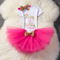 Price Baby G*rl 1 Year 2 Years Old Birthday Dress Cute Girls Summer Dress Party Baby Princess Costume Rose Intl Oem Online