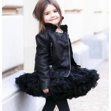 Sale Baby Girls Tutu Skirt Ballerina Skirt Layer Fluffy Children Kids Princess Tulle Party Dance Skirts Black Intl