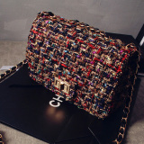 Discounted Women S Korean Style Chain Detail Crossbody Small Bag Black Black