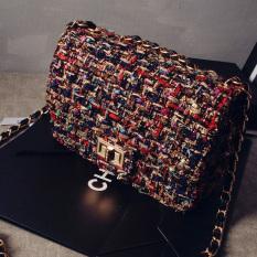 Price Women S Korean Style Chain Detail Crossbody Small Bag Black Black Oem Original