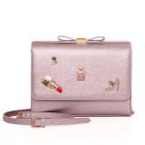 Best Offer Baglink Pu Leather Small Flap Shoulder Bag Pink