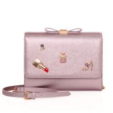 Buy Baglink Pu Leather Small Flap Shoulder Bag Pink Oem