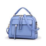 Lowest Price Baglink Women Casual Tote Bag Pu Leather Handbag Blue