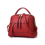 Baglink Women Casual Tote Bag Pu Leather Handbag Wine Red Coupon Code
