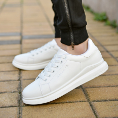 Sale Sports And Leisure Men White Shoes Canvas Shoes D006 White
