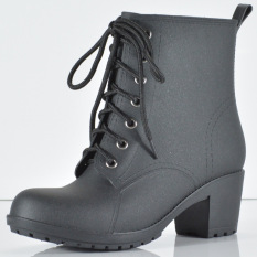 Price Bang Lace Up Black Martens Women Rain Boots 2016 Oem Online