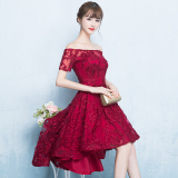 Best Buy Women S Korean Style Mini Evening Dress Red Wine Red Color Wine Red Color