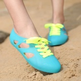 Best Price Beach Sandals Women Shoes Student Garden Jelly Shoes Casual Flat With Non Slip Plastic Intl