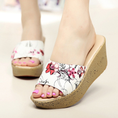 Retail Wanmulin Women S Sloped Heel Thick Sole Sandals Pattern Hong Pattern Hong