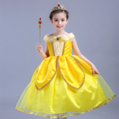 The Cheapest Beauty And The Beast Girls Children S Day Costume Halloween Lian Yi Qun Zi Princess Dress Online