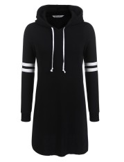 Sale Best Seller Sunwonder Women Drawstring Hooded Casual Long Sleeve Fleece Lined Pullover Hoodie Dress Black Intl Online China