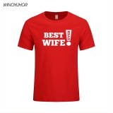 Buy Best Wife Ever Newly Married T Shirt Funny Print Mens T Shirt Cool Family Gift Husband Men T Shirt Short Sleeve Tee Red Intl Online
