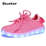New Bevoker Led Luminous Shoes For Kids Fashion Light Up Casual Shoes 7 Colors Unisex Intl