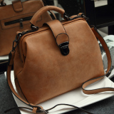 Retail Jianyue Shoulder Doctor Bag Lingge Bag Matte Brown