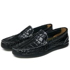 Best Big Size 39 44 Brand Men Loafers Crocodile Skin Genuine Leather Men Driving Shoes Good Quality Intl