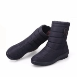 How Do I Get Big Size Waterproof Winter Women Snow Boots High Quality Warm Thick Plush Ankle Boots Woman Shoes Black Intl