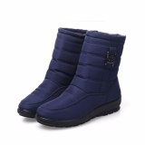 How Do I Get Big Size Waterproof Winter Women Snow Boots High Quality Warm Thick Plush Ankle Boots Woman Shoes Blue Intl