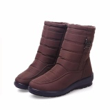 Review Big Size Waterproof Winter Women Snow Boots High Quality Warm Thick Plush Ankle Boots Woman Shoes Brown Intl Oem