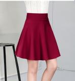 Mm Wild Type A High Waist A Word Skirt Half Length Skirt Wine Red Coupon Code