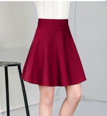 Mm Wild Type A High Waist A Word Skirt Half Length Skirt Wine Red Free Shipping