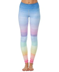 Sale Bigood Women Rainbow Gradient Color Yoga Workout Pants Sports Gym Leggings Intl China Cheap