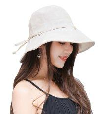 Bigood Womens Summer Wide Brim Beach Floppy Hat Foldable Bucket Sun Cap Apricot - Intl By Bigood Online.