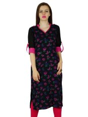 Price Bimba Women Black Floral Rayon Kurta Kurti Classic Chic Casual Tunic Blouse Black Intl On Singapore