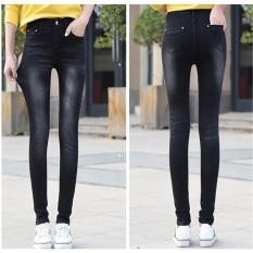 Compare Black 2017 Women New Fashion Ripped Denim Jeans Skinny Stretch Pencil Jeans Ladies S*xy Streetwear Spring Summer Autumn Pants Intl