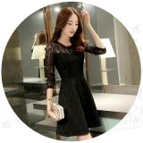 Buy Black A Line Korean Dresses Summer Style Vintage Women Fashion New Arrival Ladies Sleeve Dress Lace Mini Dress Women Dresses Intl On China