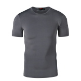 Sale Sports Black And White Male Training Fitness Clothing Quick Drying Clothes Slim Fit Clothing Gray Gray Oem Cheap