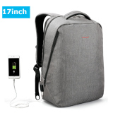 Cheapest 2017 New Design Tigernu Brand Men Backpack Anti Theft External Usb Charge Port For 14 17 Laptop Backpack Sch**l Backpack Bag Grey 17Inch