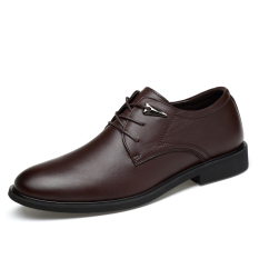 Compare British Leather Men New Style Men S Shoes Black Leather Shoes Deep Brown Deep Brown Prices