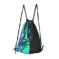 Buy Blackhorse Play Tailor Mermaid Reversible Sequin Drawstring Backpack Glittering Outdoor Shoulder Bag Intl Cheap China