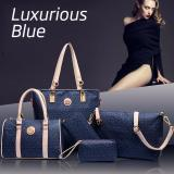 Discount Blue 6Pc Bags Set Leather Bags Set 6 For The Price Of 1 Singapore
