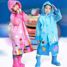 Blue Ant Korean Style New Style Student Poncho Children Raincoat Deep Sea Adventure Only Raincoat Deep Sea Adventure Only Raincoat Blueant Discount