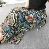 Cheap Bohemian Printed Chiffon Female Summer Wrap Skirt 6331 Red Geometric