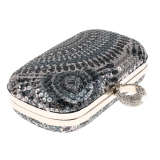 Bolehdeals Ethnic Sequin Clutch Bag Bridal Multi Purpose Purse Wallet Handbag Grey Intl Cheap