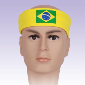 BolehDeals Women Men Sport Sweat Sweatband Headband Hair Band Yoga Fashion Brazil