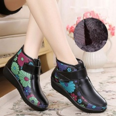 Boots Women Winter Leather Flower Keep Warm Outdoor Ankle Boots Intl Deal