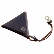 Buy Boshiho Cowhide Leather Coin Purse Change Holder Wallet Earphone Case Pouch Brown Intl Boshiho Online