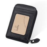 Boshiho Rfid Blocking Card Holder Genuine Leather Credit Card Case Organizer Compact Wallet Zip Around Accordion Style Black Intl Boshiho Discount