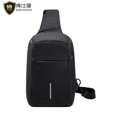 Boshikang Anti Theft Men Chest Bag Waterproof Oxford Travel Bag Casual Crossbod Bag Fashion Messenger Bag Chest Pack Black Intl Compare Prices
