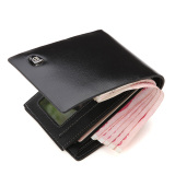 Who Sells The Cheapest Bostanten Men S Cow Leather Bifold Wallet With Deluxe Credit Card Flip Pocket Black Online