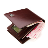 Discount Bostanten Men S Cow Leather Bifold Wallet With Deluxe Credit Card Flip Pocket Brown China