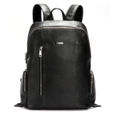 Bostanten Men S Genuine Cowhide Leather Big Backpack Black Free Leather Keychain Free Shipping