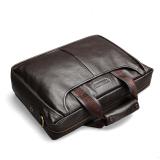Bostanten Men S Genuine Cowhide Leather Formal Bag Business Shoulder Bag Brown Coupon