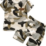 Top 10 Boy Camouflage Sports Suit T Shirt Shorts Kids Clothing Armygreen Intl