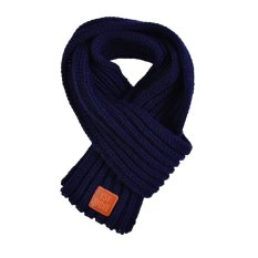 Boy Girl Baby Winter Solid Color Warm Knitting Wool Scarf Children Neck Warmer With The Leather - Intl.
