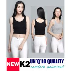 How To Buy Bra Top Padded Bra Dress Camisole K2 Black